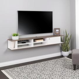 Wall Mounted Media Console with Door