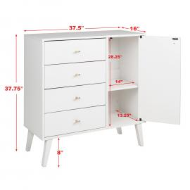 dimensions for Milo 4-drawer Chest with Door