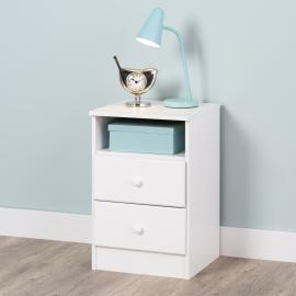 Astrid 2-Drawer Nightstand, White