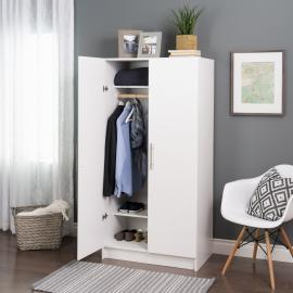 White Elite Wardrobe Cabinet