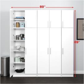 """White Set C - Elite 80"""" Storage - 6 pc"""