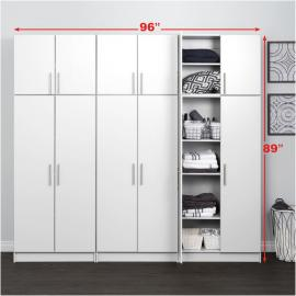 White Elite 96 inch Storage Set D - 6 pc